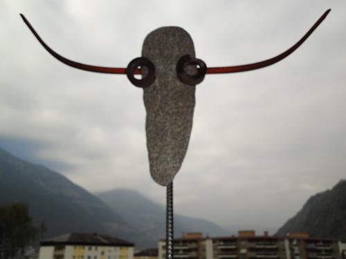e.w. bregy, horn um horn: toro, Animals: Land, Abstract Art