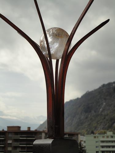 e.w. bregy, eisenplastik: sonnenhymne, Fantasy, Abstract Art