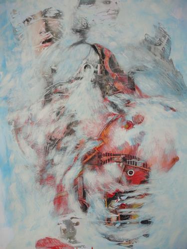 e.w. bregy, winterzauber: schneechaos, Fantasy, Abstract Expressionism