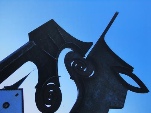 e.w. bregy, eisenplastik: begegnung von e.w. bregy, Fantasy, Abstract Art