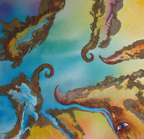 e.w. bregy, Horn um Horn, Fantasy, Contemporary Art