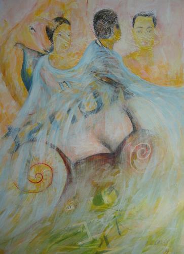 e.w. bregy, verschleiert, Erotic motifs: Female nudes, Abstract Expressionism