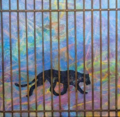 e.w. bregy, Hommage à R.M. Rilke: der panther, Animals: Land, Contemporary Art