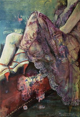 Beate Hildebrandt, Warten auf..., Society, Contemporary Art, Expressionism