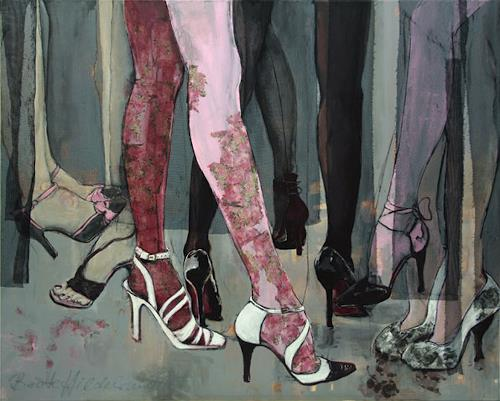 Beate Hildebrandt, Seven Steps To Heaven, Fashion, Society, Contemporary Art, Abstract Expressionism