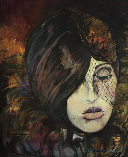 Beate Hildebrandt, Maskerade, Carnival, People: Faces, Contemporary Art