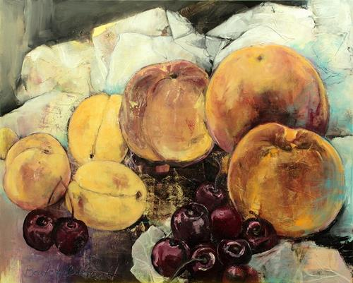 Beate Hildebrandt, Stillleben, Still life, Meal, Contemporary Art, Expressionism