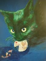 B. Raz-Goldau, Katze mit Keks