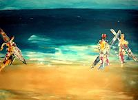 Brigitte-Raz-Goldau-Leisure-People-Group-Contemporary-Art-Contemporary-Art