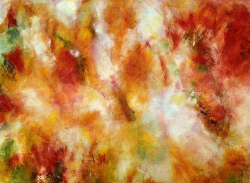 Brigitte Raz-Goldau, Indian Summer, Abstract art, Fantasy, Contemporary Art