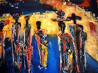 Brigitte-Raz-Goldau-People-Group-Contemporary-Art-Contemporary-Art