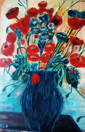 Brigitte Raz-Goldau, Sommerstrauss, Plants, Plants: Flowers, Contemporary Art