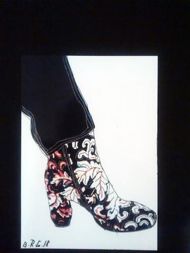 Brigitte Raz-Goldau, Stiefeletten 1, Fashion, Fantasy, Contemporary Art