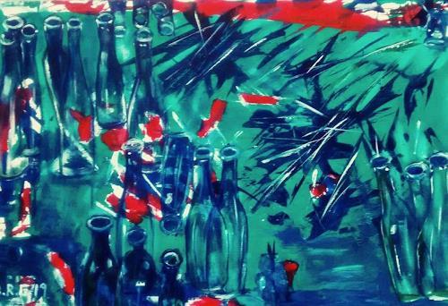 Brigitte Raz-Goldau, Glasflaschenrecycling 2, Industry  , Fantasy, Contemporary Art