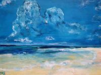 Brigitte-Raz-Goldau-Landscapes-Beaches-Nature-Water-Contemporary-Art-Contemporary-Art