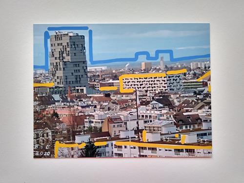 Brigitte Raz-Goldau, Städtische Landschaften Basel, Landscapes: Winter, Buildings, Contemporary Art