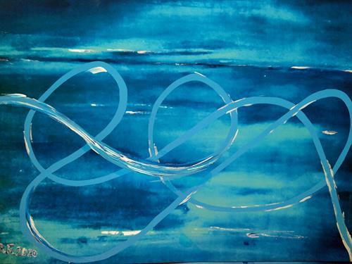Brigitte Raz-Goldau, Meeresbewohner, Landscapes: Sea/Ocean, Landscapes: Tropics, Abstract Art, Expressionism