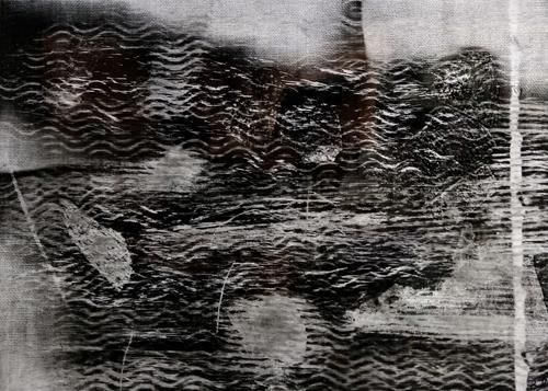Brigitte Raz-Goldau, Felsengestein im Tessin 1-8 Nr. 4, Abstract art, Burlesque, Abstract Art