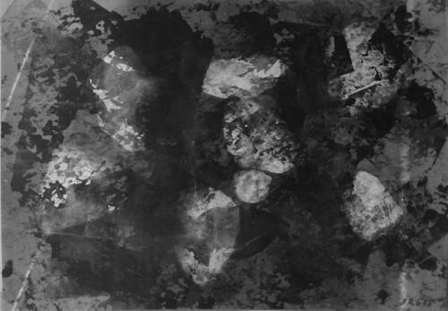 Brigitte Raz-Goldau, Felsengestein im Tessin 1-8 Nr. 8, Abstract art, Burlesque, Abstract Art