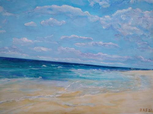 Brigitte Raz-Goldau, Ferienerinnerungen 1-2 Nr. 2, Landscapes: Sea/Ocean, Emotions, Contemporary Art