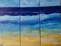 Brigitte-Raz-Goldau-Landscapes-Sea-Ocean-Nature-Water-Contemporary-Art-Contemporary-Art