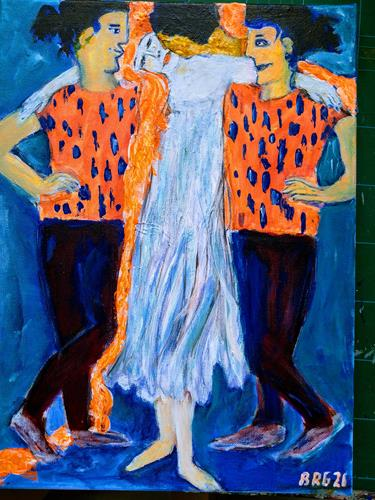 Brigitte Raz-Goldau, Rapunzel, People: Group, Abstract art, Contemporary Art