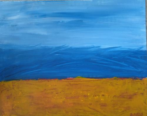 Brigitte Raz-Goldau, Freiheit, Landscapes: Sea/Ocean, Abstract art, Abstract Art