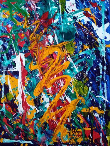 Brigitte Raz-Goldau, Gefühle 1996, Emotions, Abstract art, Abstract Art