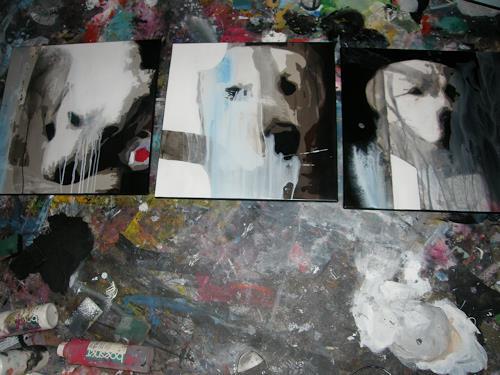 OMAR, auf den Hund gekommen / Auftragsarbeit / 251, Animals, Miscellaneous Animals, Abstract Expressionism