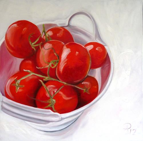 Anne Petschuch, Tomaten, Plants, Meal, Realism, Expressionism