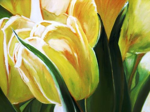Anne Petschuch, Gelbe Tulpe, Plants: Flowers, Nature, Realism, Expressionism