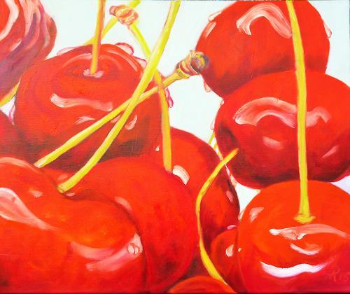 Anne Petschuch, Kirschen, Meal, Plants: Fruits, Realism