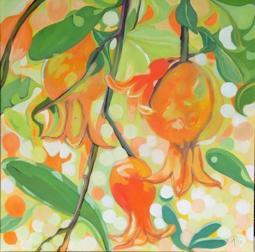 Anne Petschuch, Granatapfelbaum, Plants: Trees, Plants, Post-Impressionism, Expressionism