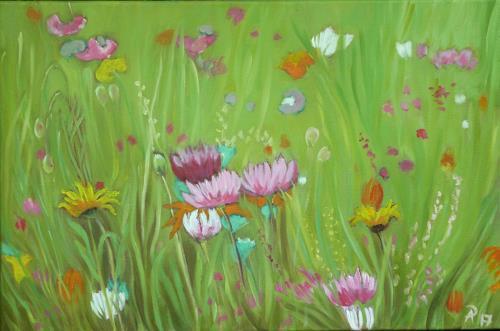 Anne Petschuch, Blumenwiese 14, Plants, Nature, Abstract Art