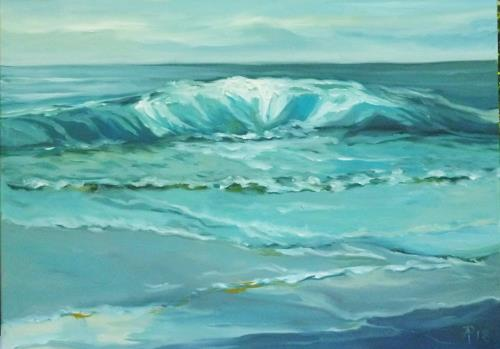 Anne Petschuch, Nordsee 08, Landscapes: Sea/Ocean, Landscapes, Neo-Impressionism