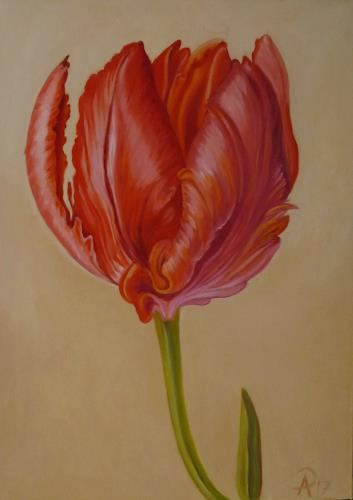 Anne Petschuch, Tulpe 05, Plants, Plants: Flowers, Realism, Expressionism