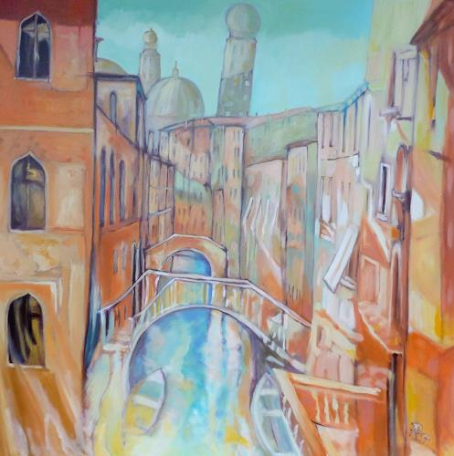 Anne Petschuch, Venice 02, Architecture, Interiors: Cities, Impressionism