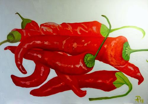 Anne Petschuch, Pepperoni 04, Plants: Fruits, Meal, Realism