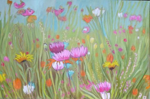 Anne Petschuch, Blumenwiese 14a, Plants, Plants: Flowers, Realism