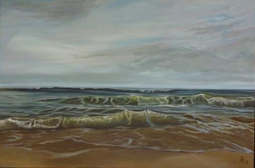Anne Petschuch, Sylt, Landscapes: Sea/Ocean, Nature: Water, Impressionism, Expressionism