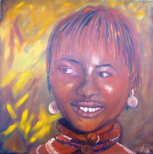 Anne Petschuch, Afrika I, People, People: Women, Impressionism