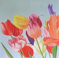 Anne Petschuch, Bunte Tulpen V