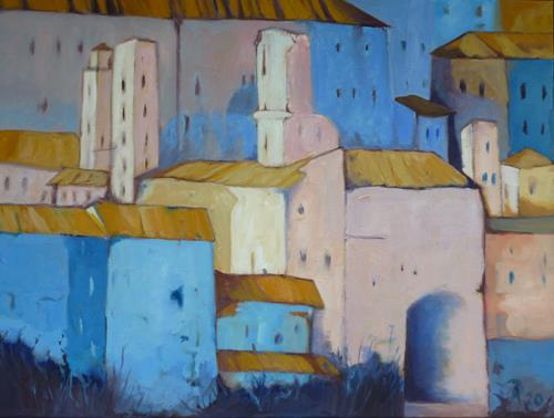 Anne Petschuch, Bergdorf in Italien IV, Architecture, Miscellaneous Buildings, Impressionism