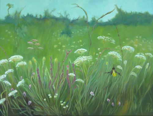 Anne Petschuch, Wiesenblumen, Plants: Flowers, Landscapes, Impressionism