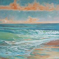 Anne-Petschuch-Landscapes-Sea-Ocean-Nature-Modern-Age-Impressionism-Neo-Impressionism