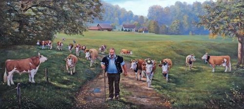 Antonio Molina, Auf zur punktierung, Landscapes: Autumn, Animals: Land, Naturalism, Expressionism