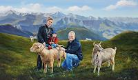 Antonio-Molina-Landscapes-Mountains-People-Families-Modern-Times-Realism