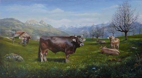 Antonio Molina, Stier Bimbo, Landscapes: Spring, Animals: Land