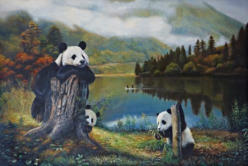 Antonio Molina, Panda- Familie, Animals: Land, Landscapes: Autumn