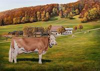 Antonio-Molina-Landscapes-Autumn-Animals-Land-Modern-Age-Photo-Realism-Hyperrealism